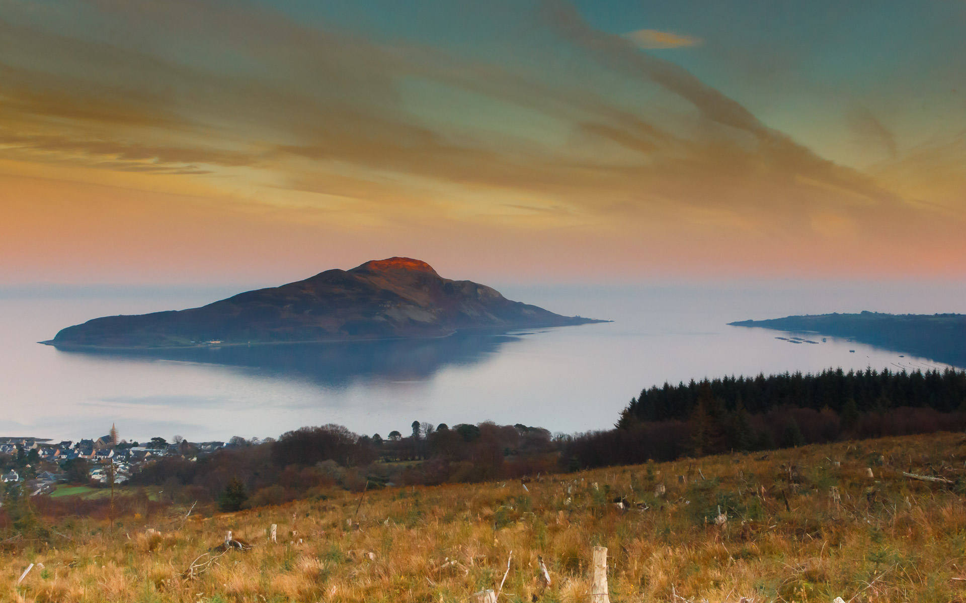 … working amidst Scotland's finest scenery